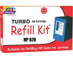 Turbo Ink Cartridge Refill Kit for hp 678 Color Ink Cartridge