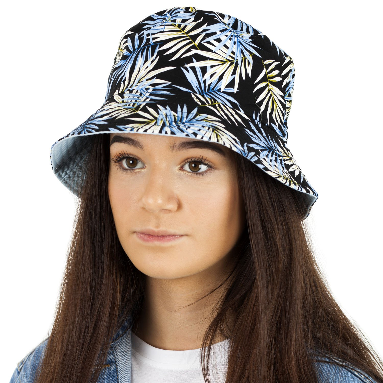 2e0c8ffa32e TOSKATOK UPF 50+ Unisex Mens Ladies Tropical Palm Leaf Cotton Bush Bucket  Sun Hat