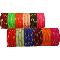 """Touchstone """"Colorful Bangle Collection"""" Indian Bollywood Alloy Metal Rich Textured Matte Finish Colors Bracelets Bangle…"""