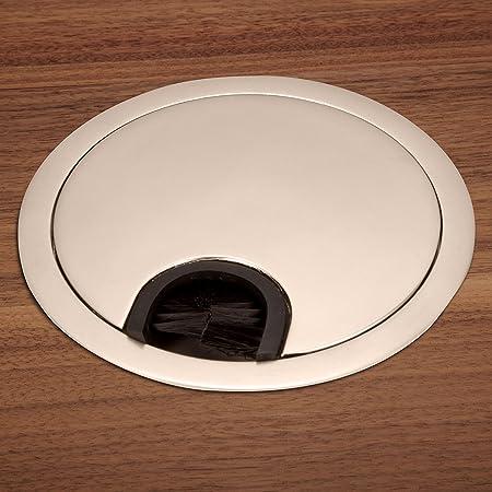 So De Tech® pasacables (metal, diámetro 90 mm, aspecto de acero inoxidable, mate: Amazon.es: Bricolaje y herramientas