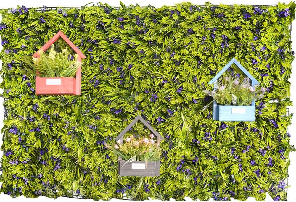 Jardín Vertical Artificial de Pared, Cesped y Flores Moradas, para decoración de Interior y Exterior, 40 x 60 cm - Hogar y Más: Amazon.es: Hogar