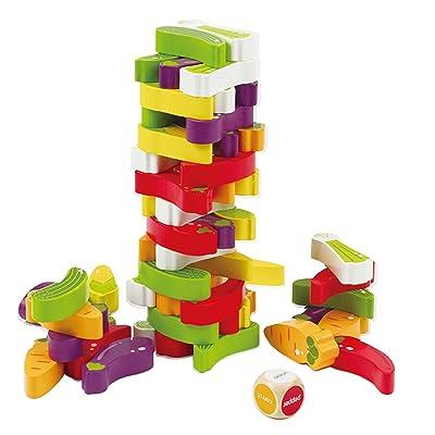 Award Winning Hape Stacking Veggies Kid's Wooden Skill Learning Game: Toys & Games
