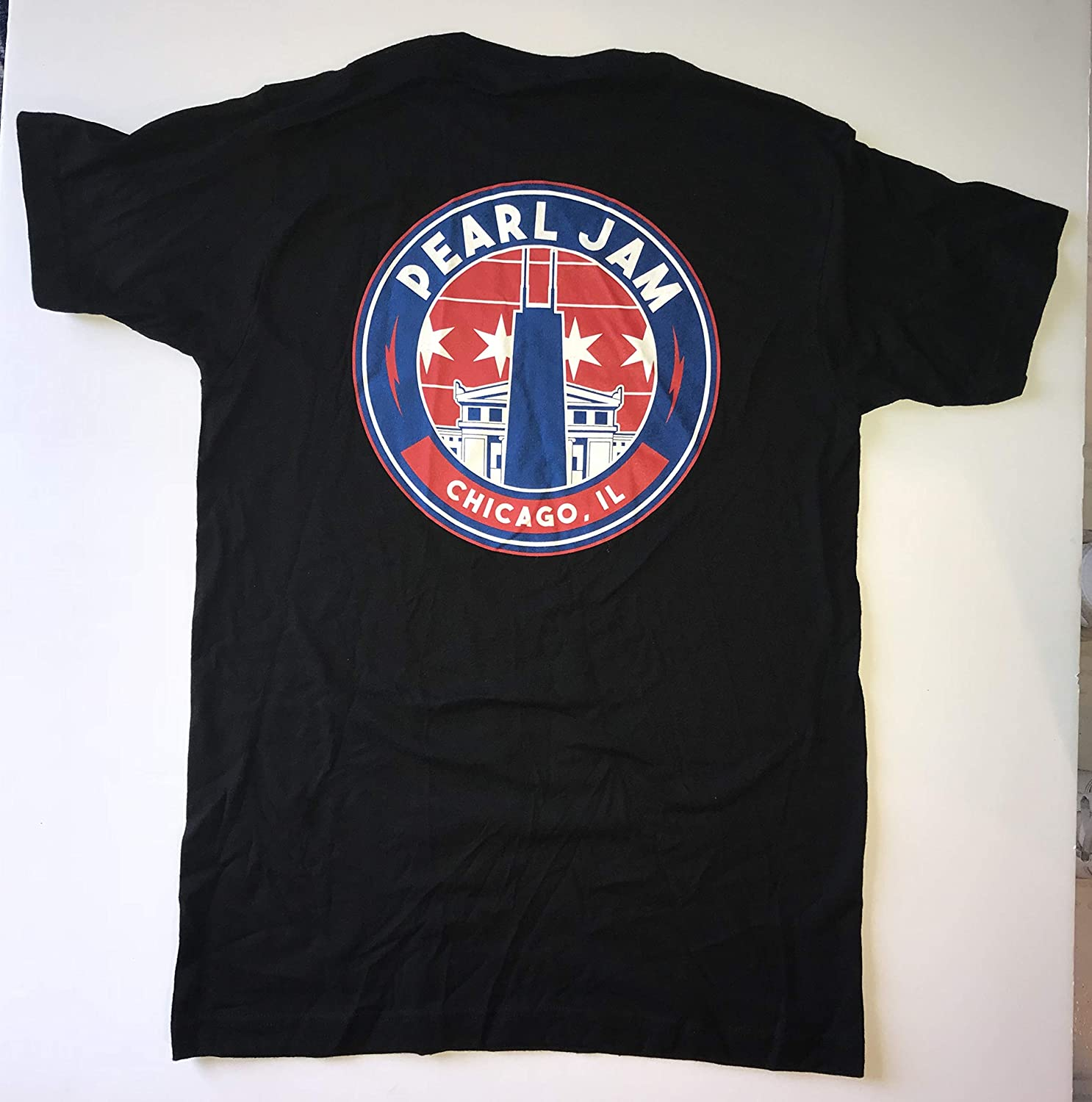 Pearl Jam chicago t shirt 2018 xxl 2x john hancock tower new wrigley field