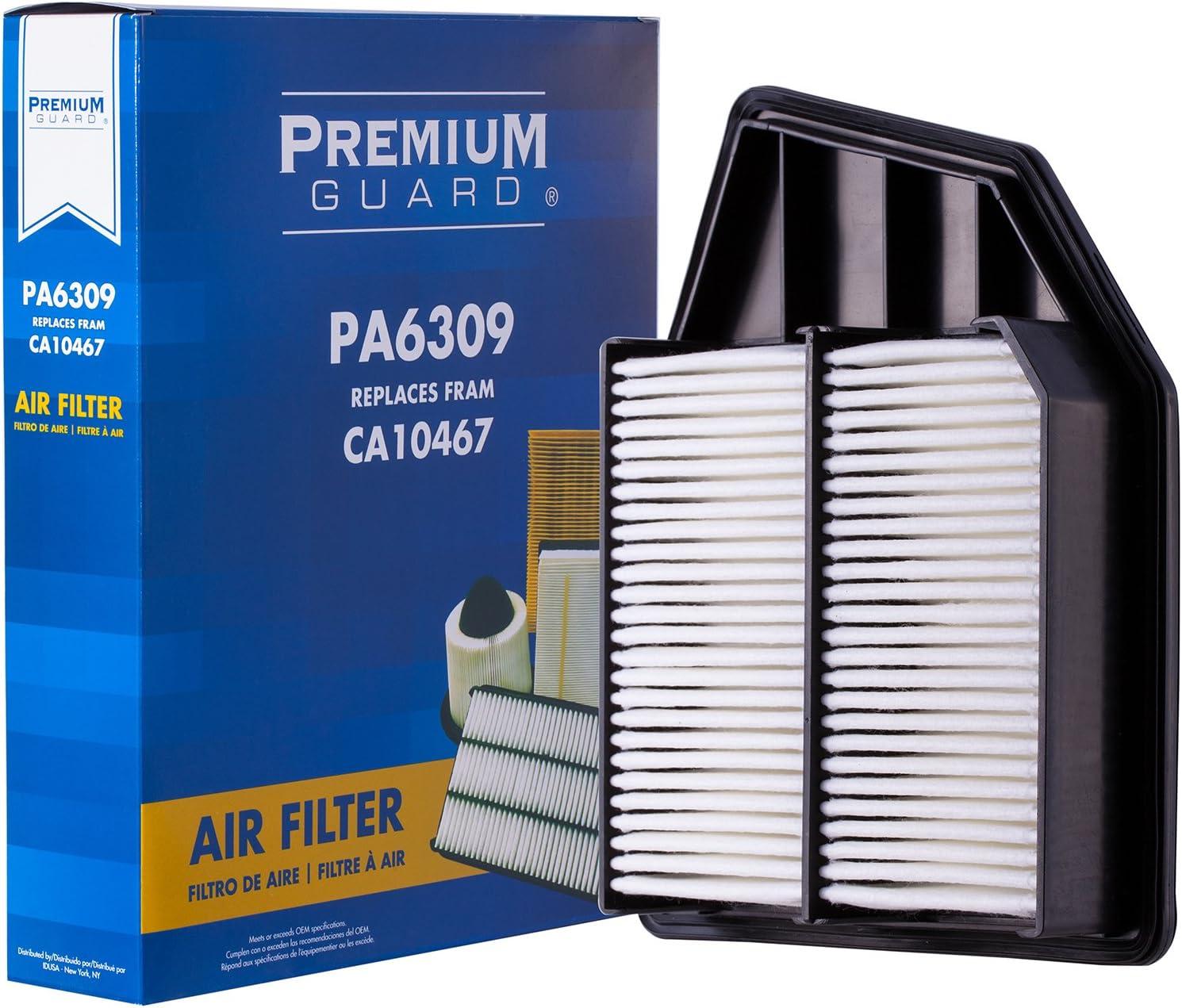 Premium Guard Air Filter PA6309 | Fits 2008-12 Honda Accord, 2012-15 Crosstour