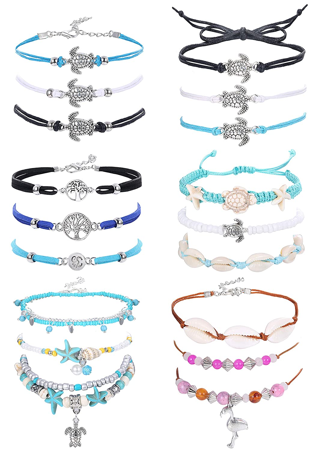 Dreambell 925 Sterling Silver Family Tree of Life Charm Cz Crystal Adjustable Cuff Bangle