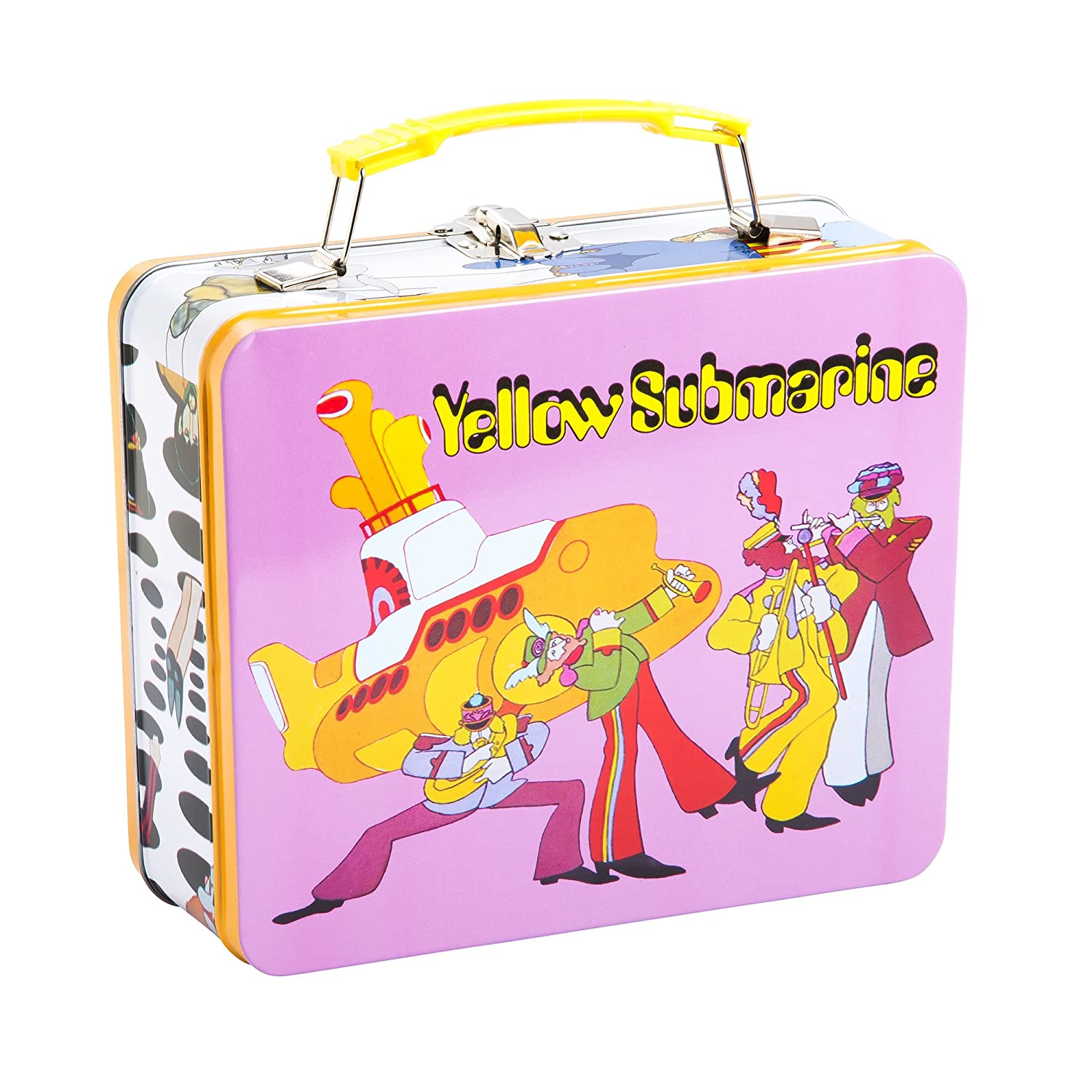 24f6c6decbff Vandor 73070 The The Beatles Yellow Submarine Vintage Shaped Tin Metal  Lunchbox Tote with Handle, Large
