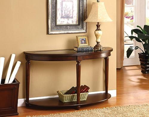 Furniture of America Sofa Table Dark Cherry