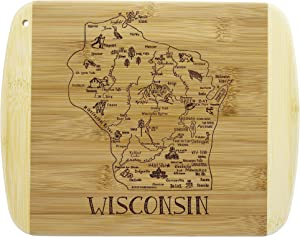Totally Bamboo A Slice of Life Wisconsin Bamboo Serving and Cutting Board