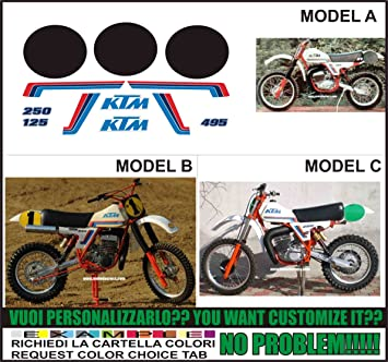 GRAPHICSMOTO Set Pegatinas Decal Stickers Compatible MX GS 125 250 495 1981 (Indica EL Modelo A o B o C): Amazon.es: Coche y moto