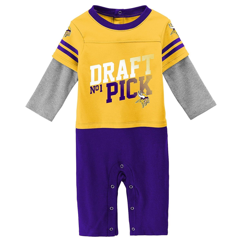 【人気急上昇】 NFL Vikings ユニセックス Months 新生児 新生児 乳児 ドラフト ピック 12 長袖 カバーオール B07D494JLM ゴールド 12 Months 12 Months|ゴールド|Minnesota Vikings, 函館市:1a1594da --- kumarandsons.com