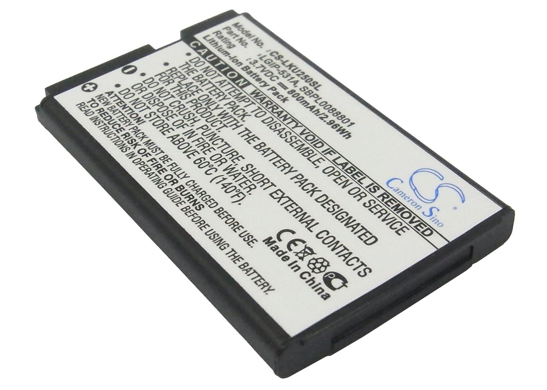 ビントロンズ交換バッテリーfor LG lgip-531 a、sbpl0088801、T - Mobile、lgip-531 a、sbpl0088801 ( 800 mAh / 2.96 WH、   B013KP7ZPE
