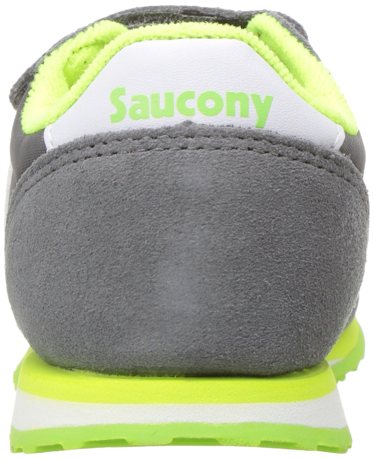 Saucony Baby Jazz Hook & Loop Sneaker Little Kid 6.5 Grey/White by Saucony (Image #2)