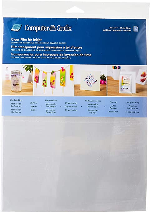 Regular Grafix Clear Ink Jet Printable Sheets