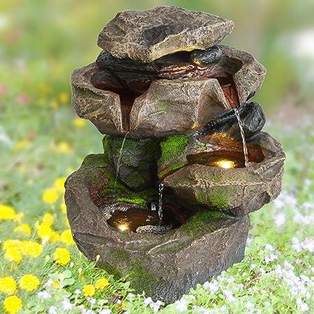 vidaXL Gartenbrunnen Pumpe Springbrunnen Wasserspiel Zierbrunnen Wasserfall