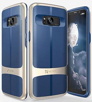 Vena Funda Galaxy S8, Carcasa [vAllure] Textura de Onda [Marco de Parachoques] [CornerGuard Shockproof | Fuerte Agarre] Cubierta híbrida Delgada para ...