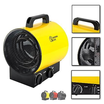 3KW calentador de aire ventilador industrial calefacción independiente 3000w impermeable para el taller garaje de la