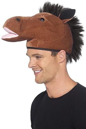 1e1c41c55c5 Amazon.com  Smiffy s Men s Horse Hat with Mane  Clothing