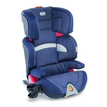 Chicco Oasys 2-3 FixPlus - Silla de coche para niños entre 3 y 12 años (7,9 kg, grupo 2-3), color vaquero