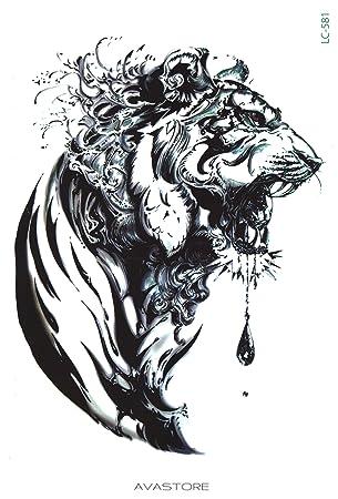Tatuaje Temporal tigre – Tatuaje efímero tigre – avastore: Amazon ...