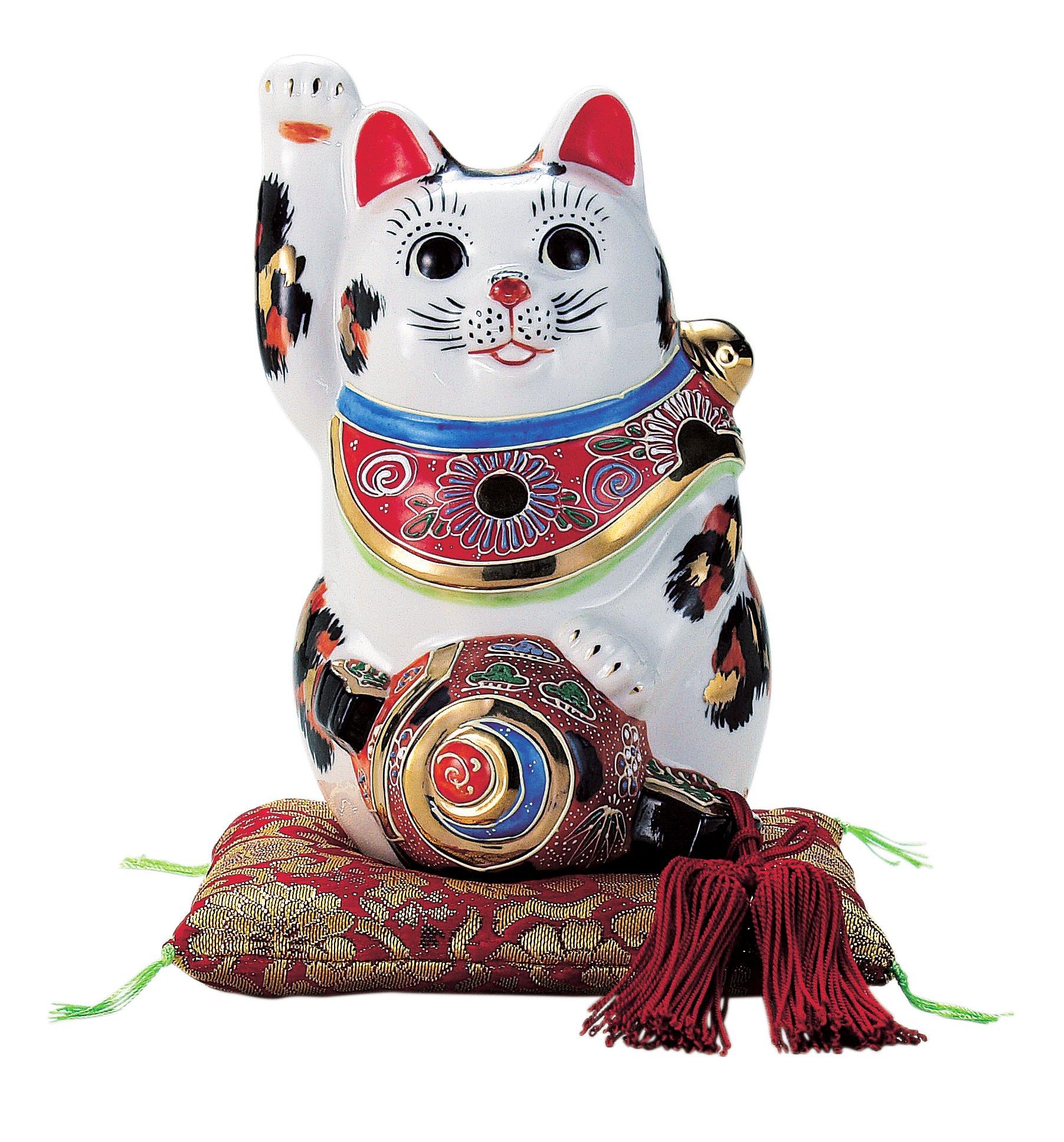 Kutani gavel ride beckoning cat No. 6 boxed N77-06