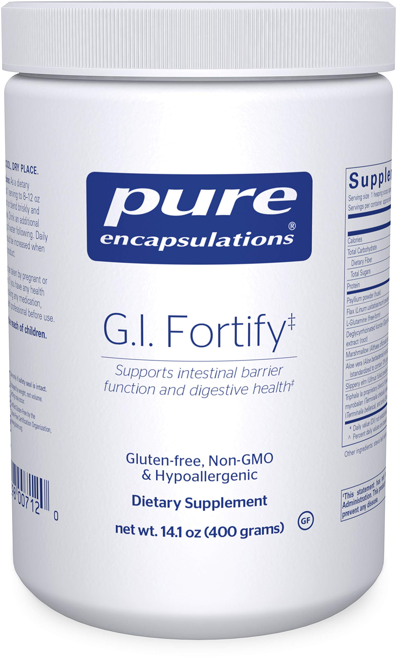 Pure Encapsulations - G.I. Fortify - Supports The Function, Microflora Balance, Cellular Health, and Detoxification of The G.I. Tract - 14.1 Ounces