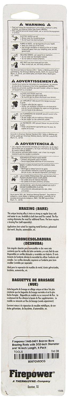 Firepower 1440-0401 Bronze Bare Brazing Rods 3/32-Inch Diameter, 14 ...