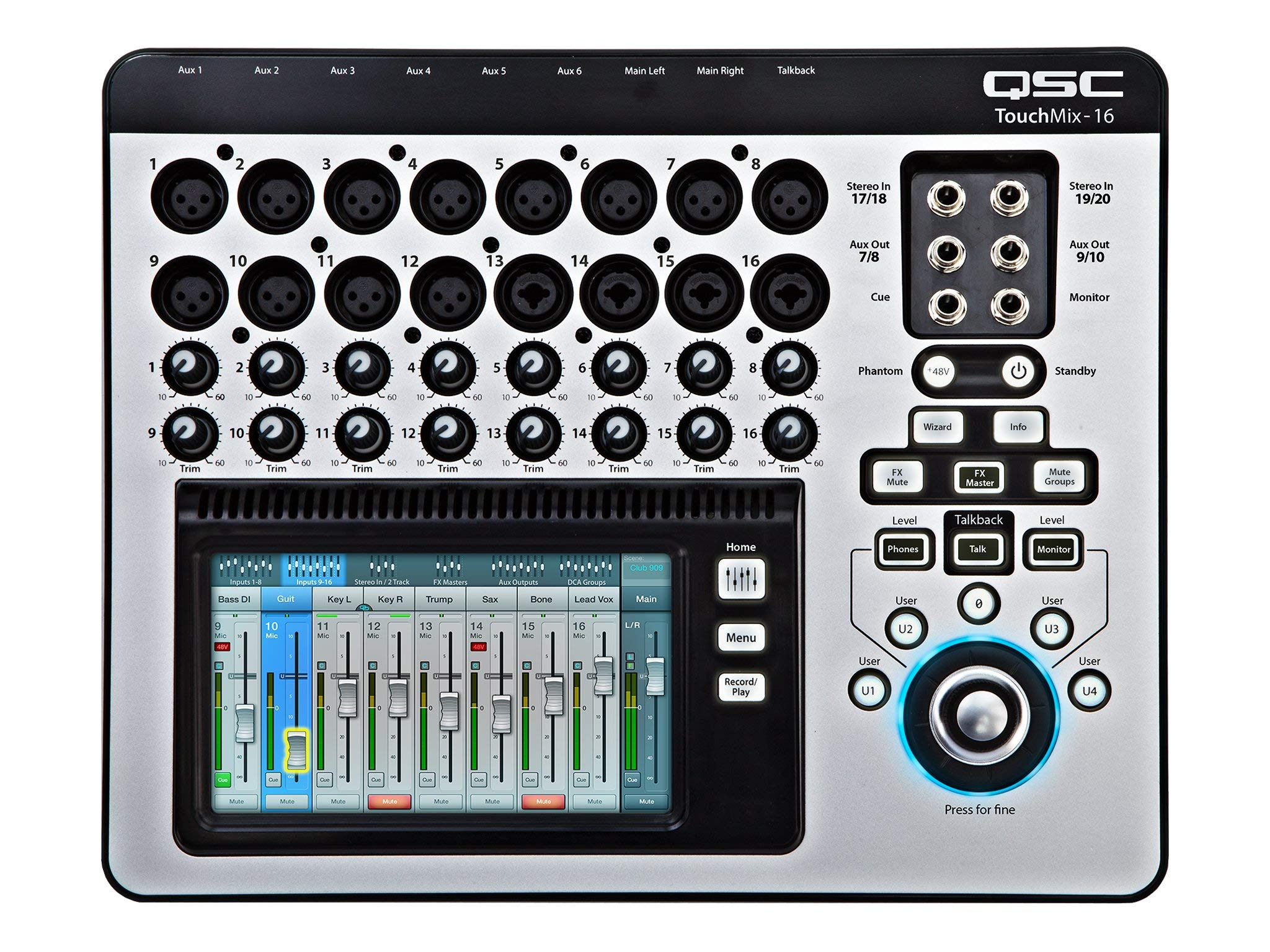QSC TouchMix-16 Compact Digital Mixer with Bag (Renewed)
