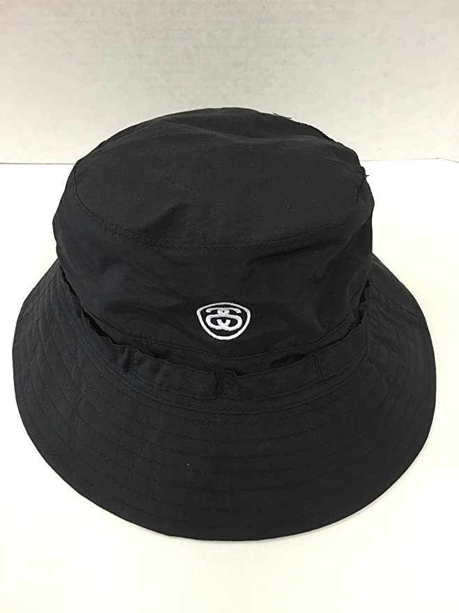 87f67dbdb57 Stussy Packable Bucket Hat - Black-Black-S-M  Amazon.co.uk  Clothing