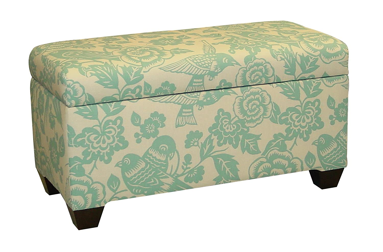 Amazon.com: Skyline Furniture Walnut Hill Storage Bench In Canary Tangerine  Fabric: Kitchen U0026 Dining