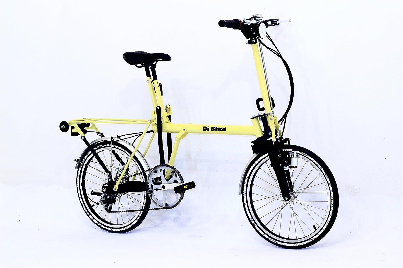 Bici Pieghevole Di Blasi.Bicicletta Pieghevole 20 Di Blasi Giallo Amazon It Sport E