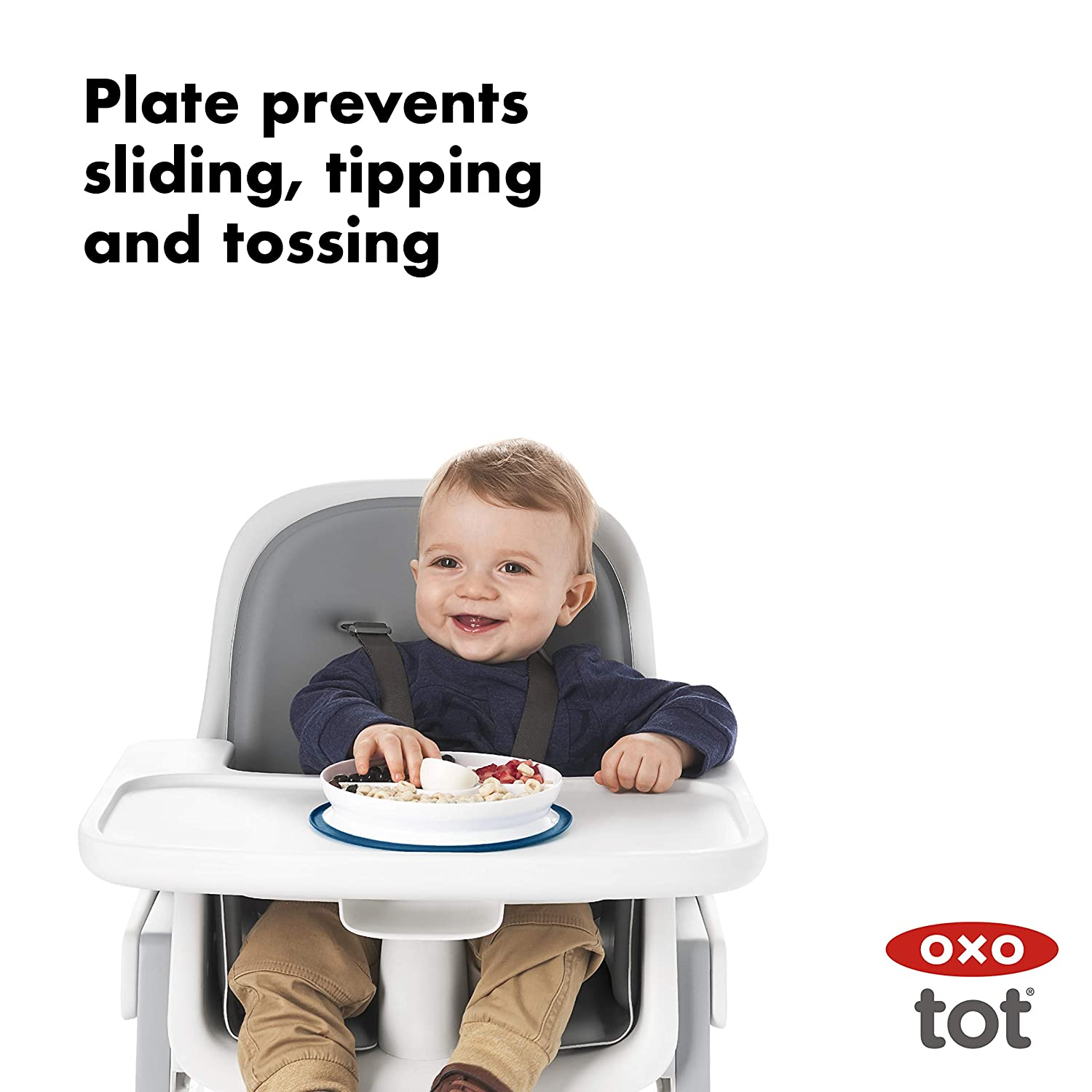 Teal OXO Tot Stick /& Stay Divided Plate