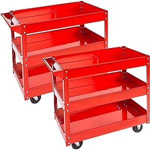 TecTake Carro de taller de herramientas Carro con ruedas de montaje - varios modelos - (