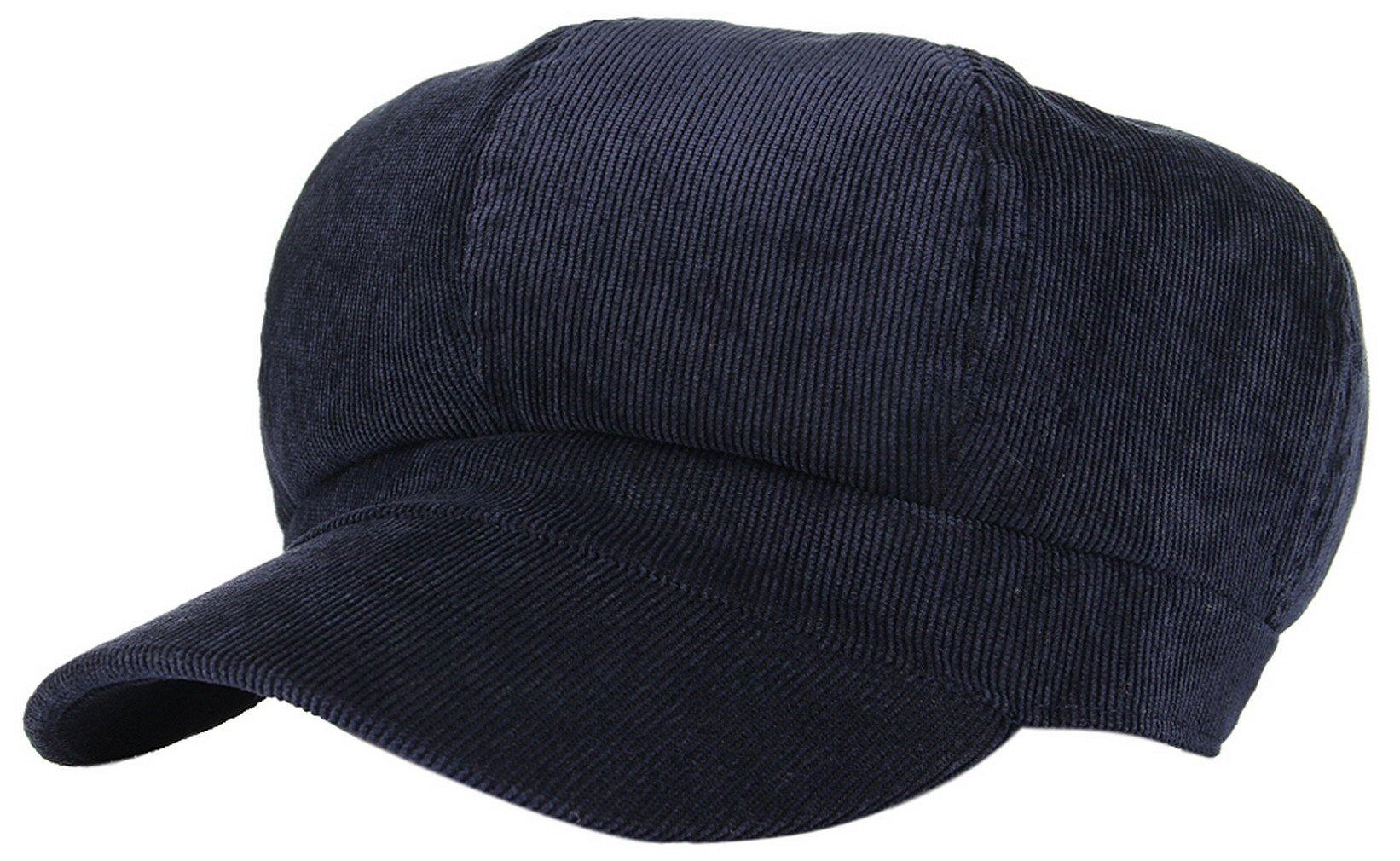 d6e6fc4591f GEMVIE Women Corduroy 8 Panel Newsboy Baker Boy Cap Peaked Beret Hat  product image
