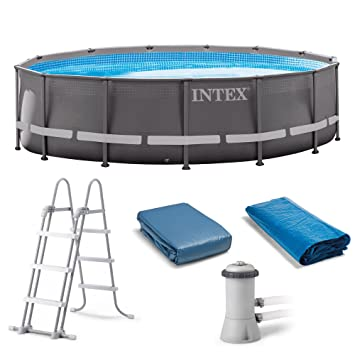 Beautiful Intex 14u0027 X 42u0026quot; Ultra Frame Pool With 1000 GPH ...