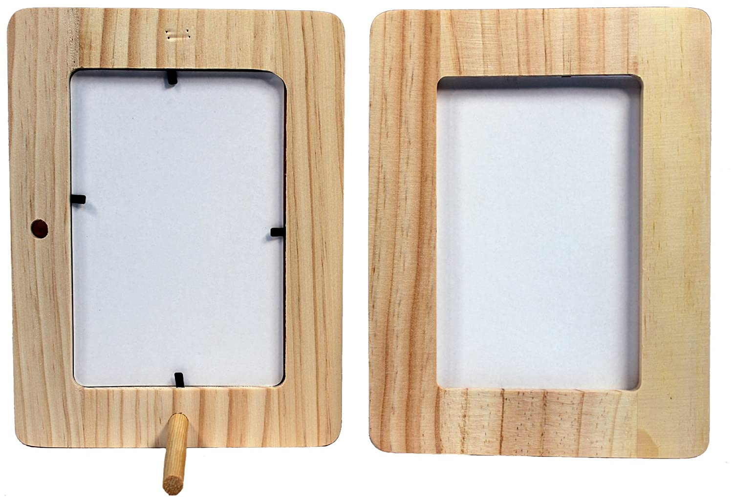 wood picture frames. Amazon.com: Creative Hobbies Unfinished 1/2 Inch Thick Wood Craft Picture Frame Holds 4x6 Photo - Peg Stand Included Frames C