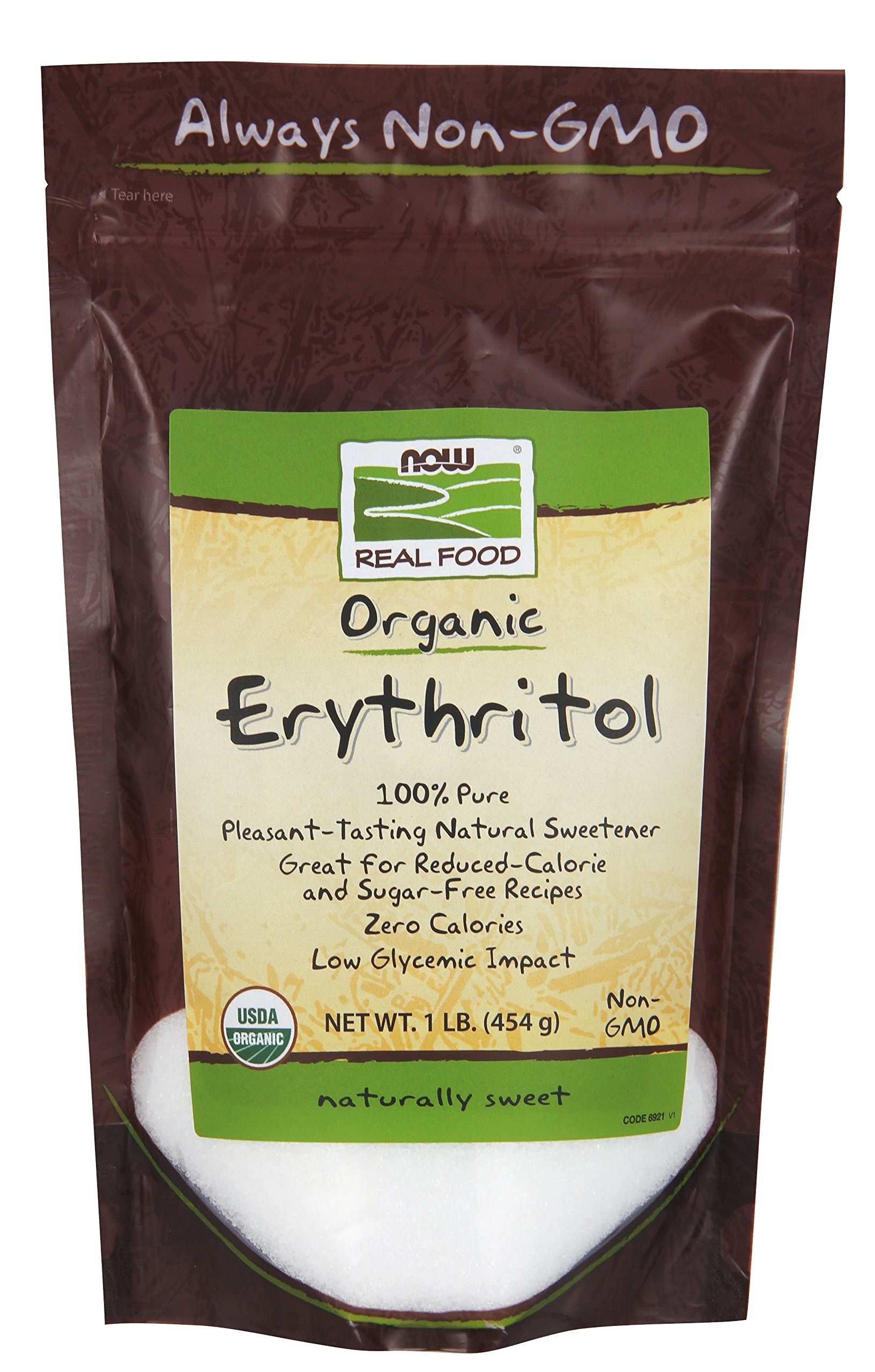 Now Foods Erythritol, 454g