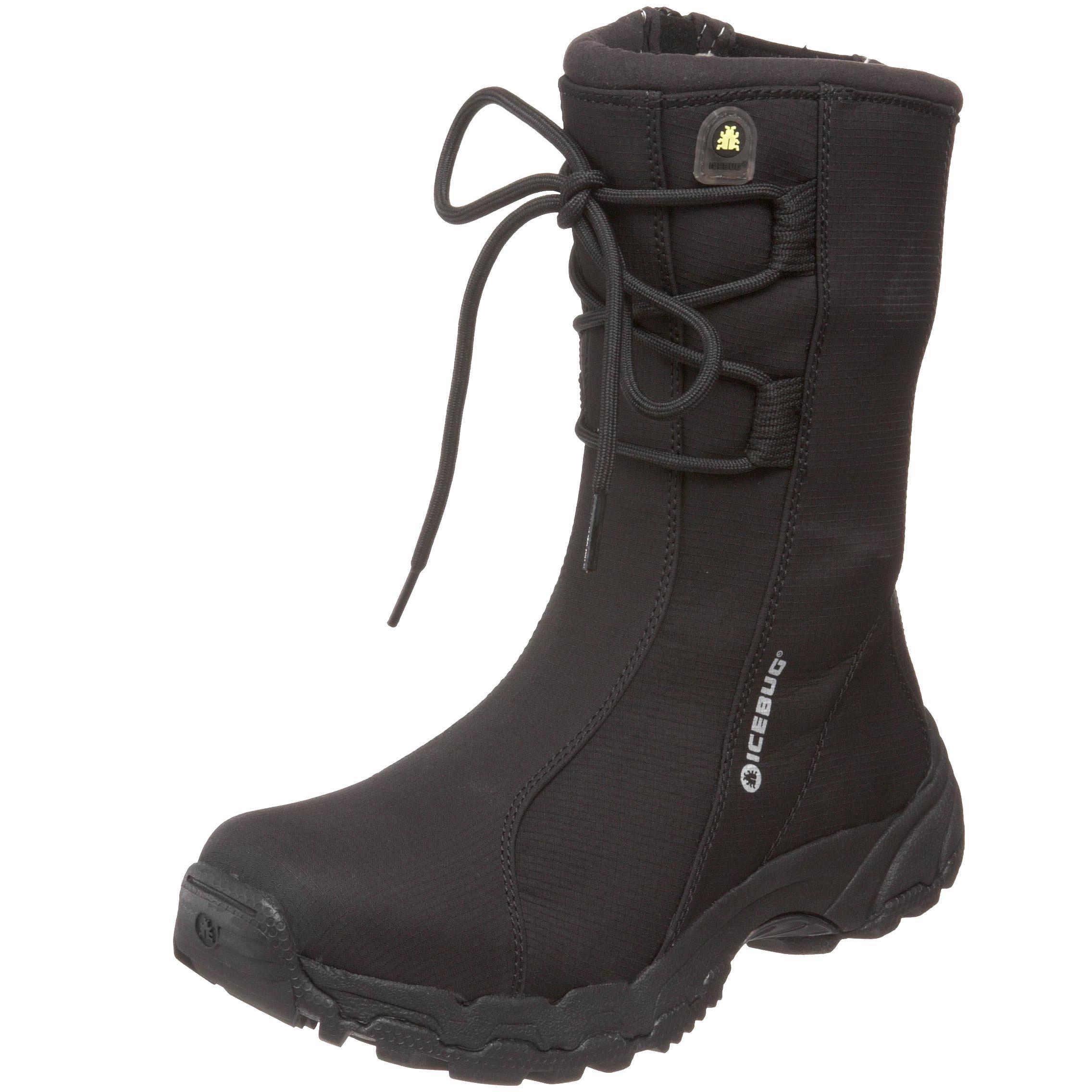 Icebug Women's Cortina BUGsole Studded Winter Boot,Black,10.5 US