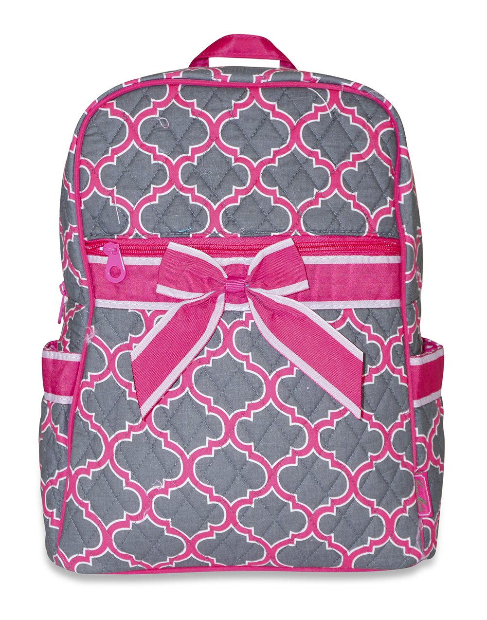 Ever Moda Moroccan Quilted Backpack (Pink)