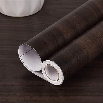 resistente al agua, autoadhesivo, para decoraci/ón de dormitorio, sala de estar, cuarto de ba/ño, cocina o encimera 15.74 x 118.11 Papel de contacto de madera de nogal para muebles JSEVEM