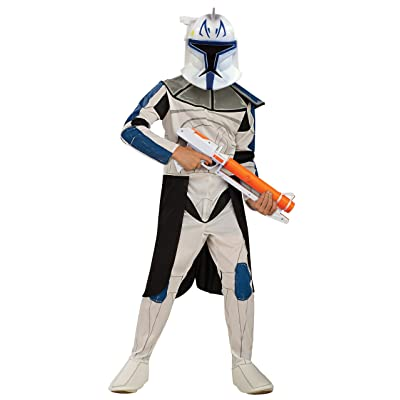 Rubies Star Wars Clone Wars Child's Captain Rex Costume, Medium: Toys & Games