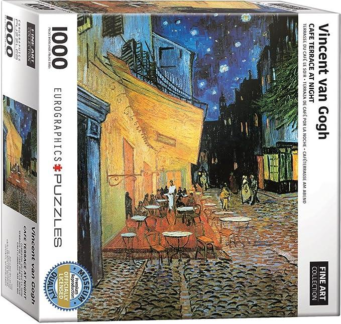 Amazon Com Eurographics Van Gogh Cafe At Night Puzzle 1000