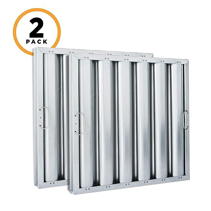 Kleen-Gard Aluminum Commercial Kitchen Range Hood Filter, 20x16x2, (Pack of 2)