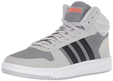 6b35ecefd92cb adidas Men s VS Hoops Mid 2.0, Grey Two Core Black Grey Three,