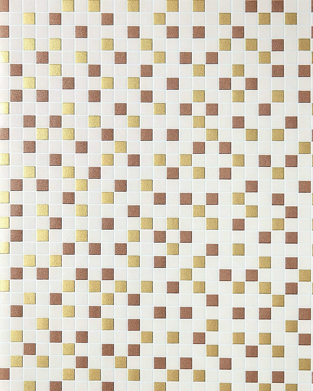 Empapelado de diseño mosaico para cocinas EDEM 1022-13 azulejos ...