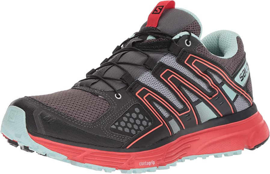 Salomon X-Mission 3 W, Zapatillas de Trail Running para Mujer, Gris/Rojo (Magnet/Black/Poppy Red), 36 EU: Amazon.es: Zapatos y complementos