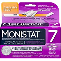 Monistat 7-Day Vaginal Antifungal | Cure & Itch Relief Combination Pack | 7 Applicators, Original Rx Cream, and Itch relief Cream