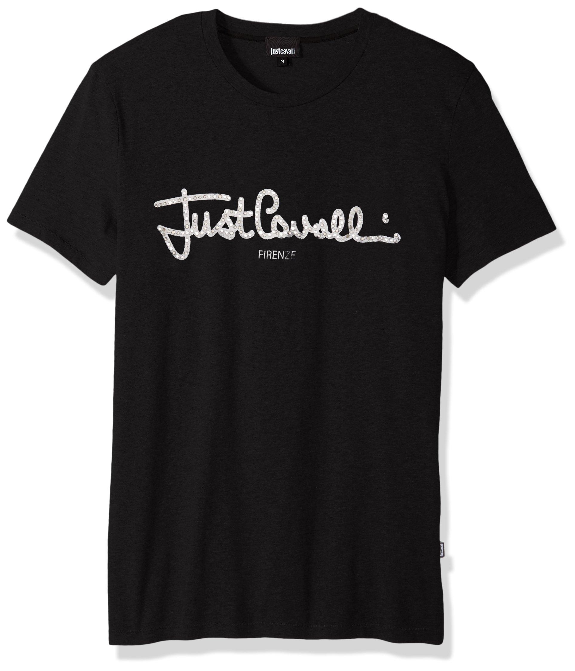 Just Cavalli Men's Logo Shirt, Black XX-Large