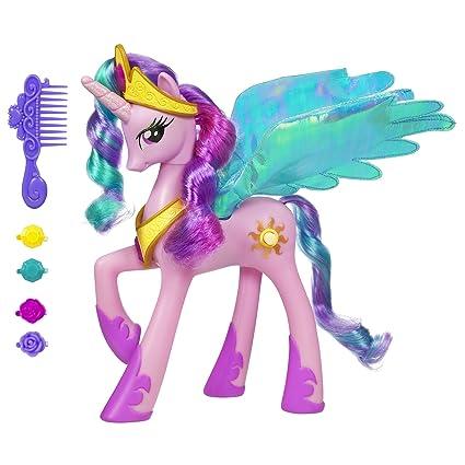 amazon com my little pony talking princess celestia toys games