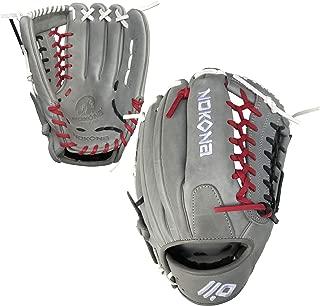 product image for Nokona AmericanKip Gray Mod-Trap 12.75 Inch A-1275M-GR POP-BWR Baseball Glove (Black/White/Red Lacing)