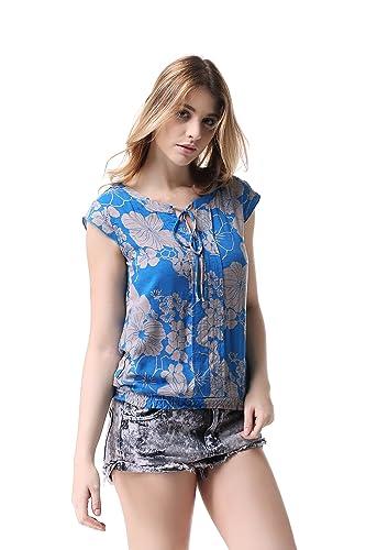 Pau1Hami1ton G-04 Blusa Mujer Sin Manga Camisa Casual Tops T-Shirts
